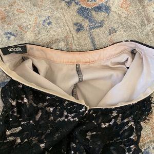 Missguided Pants - Lace jumpsuit high neck collar cut out